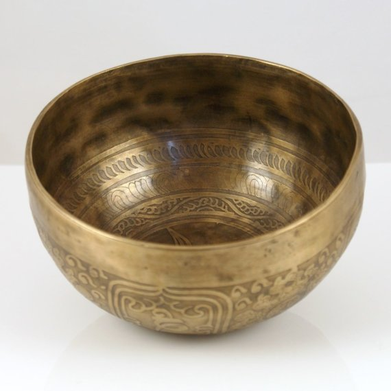 Singing Bowl 15cm Hammered Brass