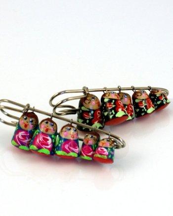 Russian Doll Pin Brooch