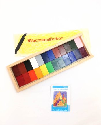 Stockmar Crayon Blocks Set of 24 in Wooden Box
