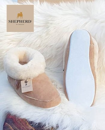 Shepherd slipper Emmy Chestnut