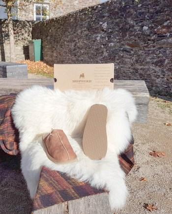 Shepherd Slipper Hugo Antique Cognac, hard sole