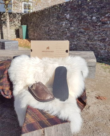 Shepherd Slipper Hugo Oiled Antique, hard sole