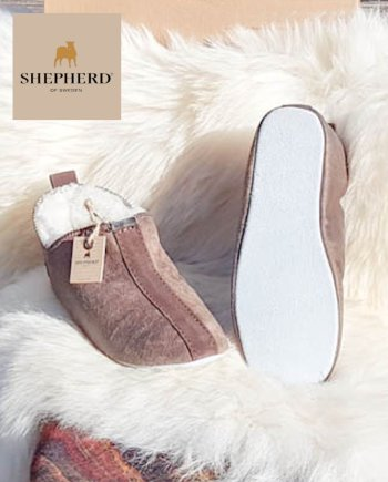 Shepherd Slipper Unisex Lina Henrik Oiled Antique, soft sole