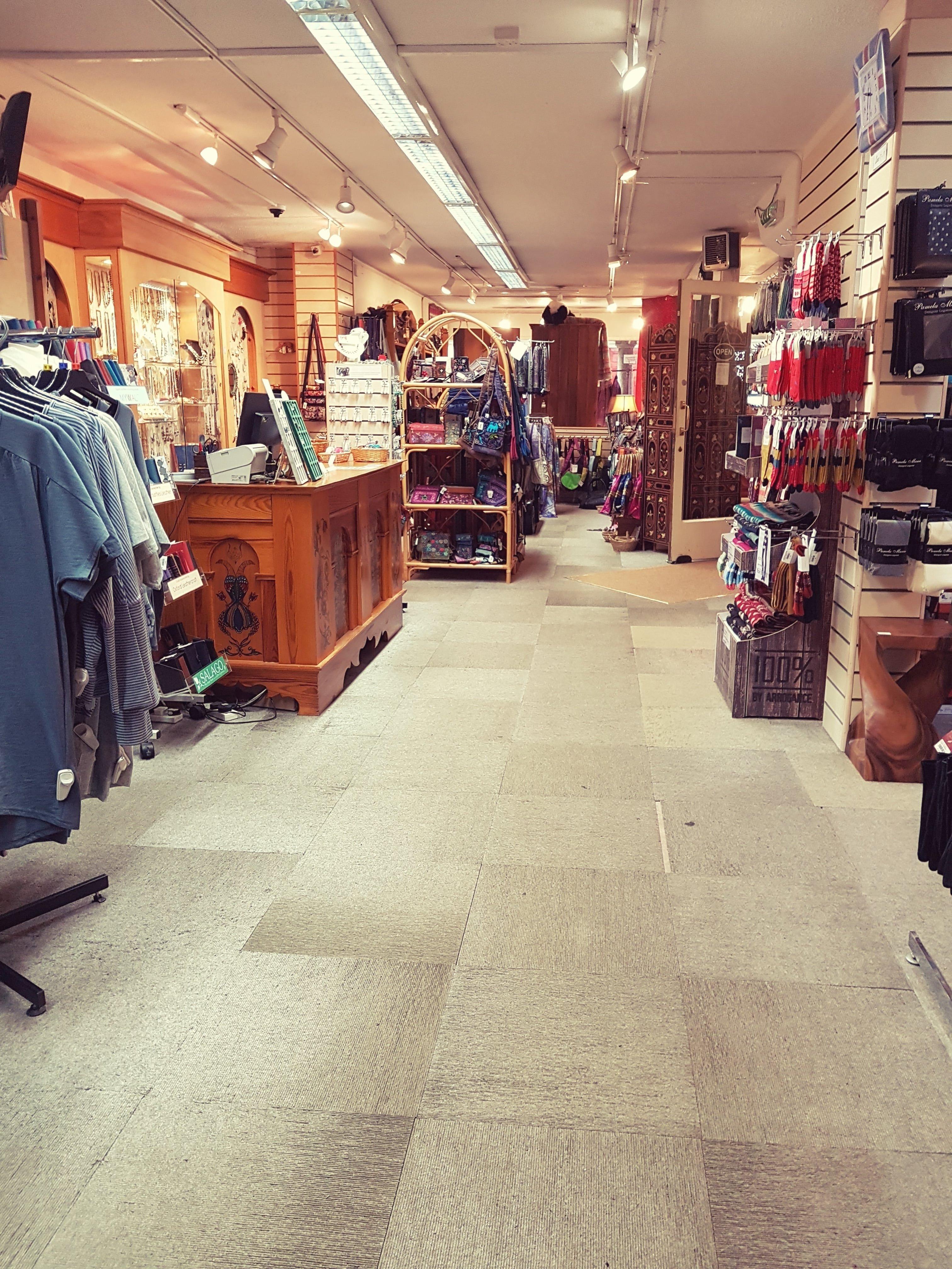 Ground floor inside Salago shop