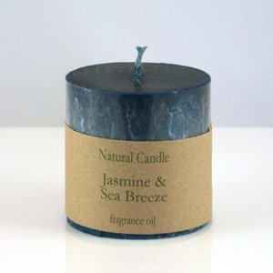Jasmine and Sea Breeze Pillar Candle