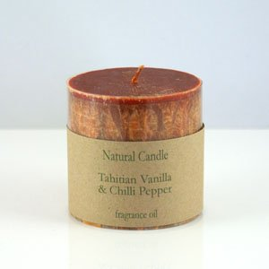 Tahitian Vanilla and Chilli Pillar Candle