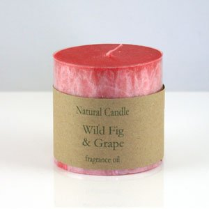 "Heaven Scent Organic Candle - 3x3"" Pillar Candle in Wild Fig and Grape scent"