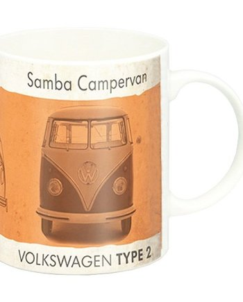 Official VW Orange Campervan Mug