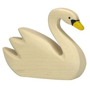 Holztiger Swan Swimming