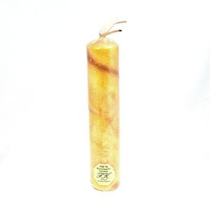 solid marbled beeswax candle 200mm tall
