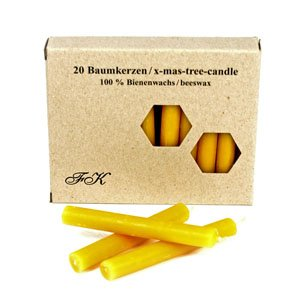 beeswax candles box of 20 by Feine Kerzen