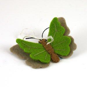hanging felt butterfly green