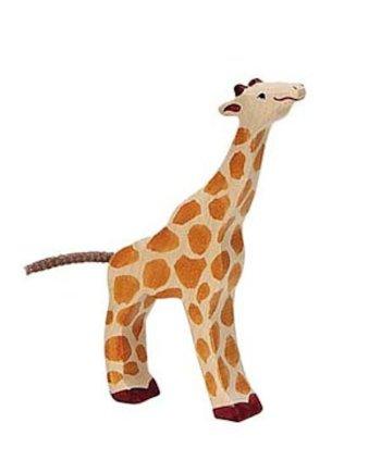 Holztiger Small Giraffe Feeding