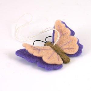 hanging felt butterfly purple