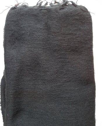 Yak Wool Black Scarves