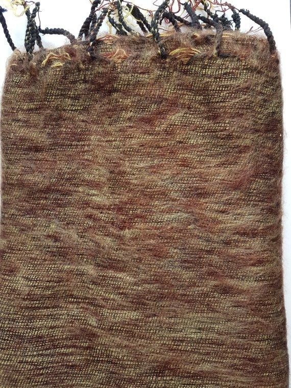 Yak Wool Gold Brown Scarves