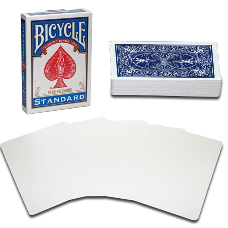 Bicycle Playing Cards Standard Blue- Blank Face - Salago Totnes