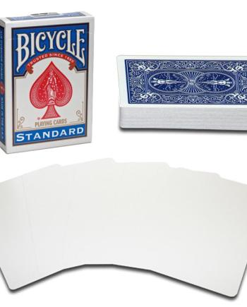 Bicycle Playing Cards Standard Blue- Blank Face