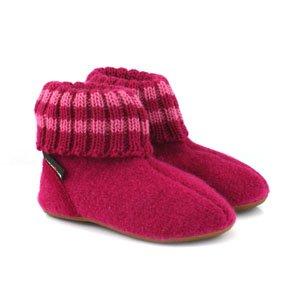 Haflinger Childrens Slipper Boot Paul - Cardinal