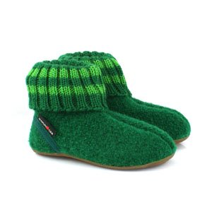 Haflinger Childrens Slipper Boot Pablo - Emerald