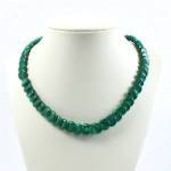 Necklace with Malachite Discs
