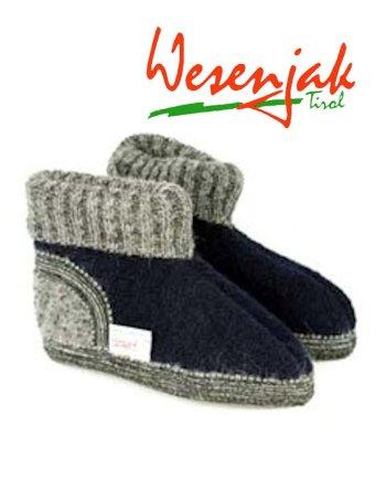 Wesenjak Children Austrian Slipper Boot - Marine
