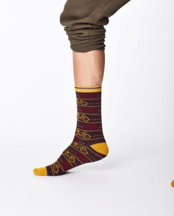 Thought Cycle Sock Aubergine