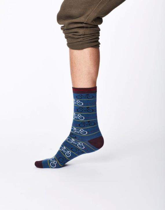 Thought Cycle Sock Blue
