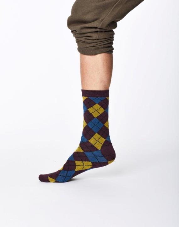 Thought Mckinnon Sock Aubergine