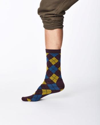 Thought Mckinnon Sock Aubergine
