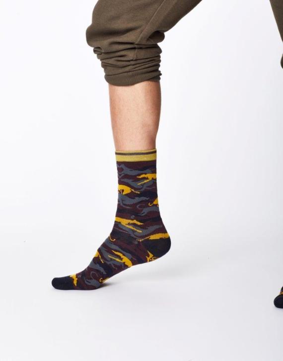 Thought Whippet Sock Aubergine
