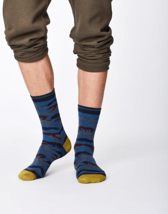 Thought Whippet Sock Blue