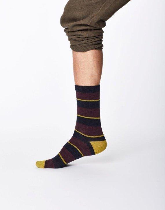 Thought Elfield Sock Aubergine