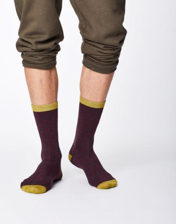 Thought Randall Sock Aubergine