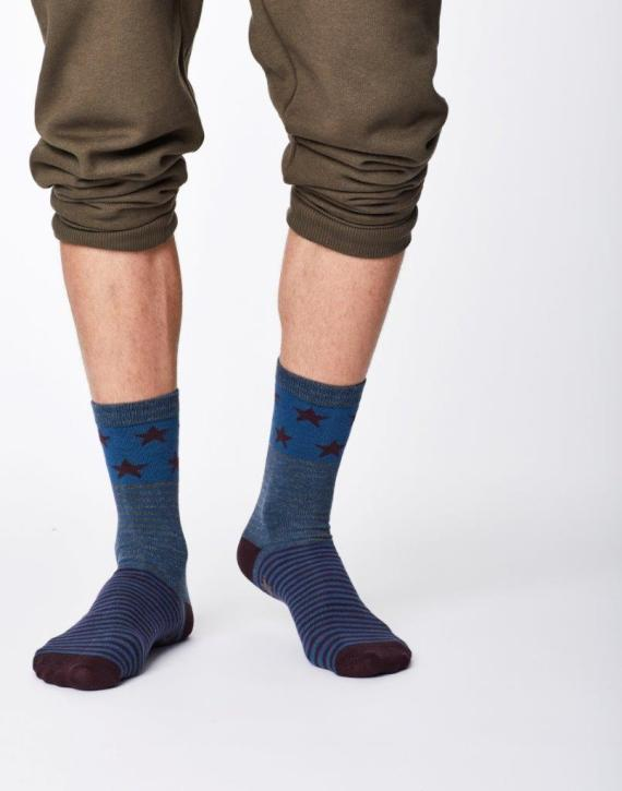 Thought Starry Sock Blue