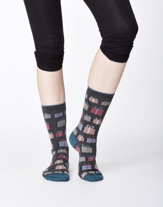 Thought Gifts Sock Dark Grey