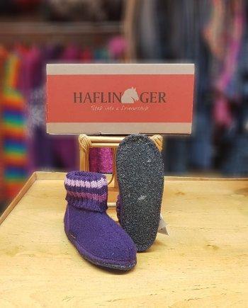 Haflinger Slipper Boot Paul Violet