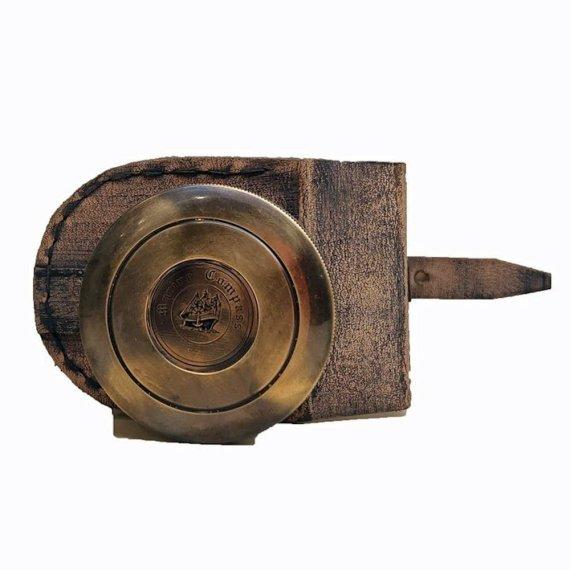 antique compass back