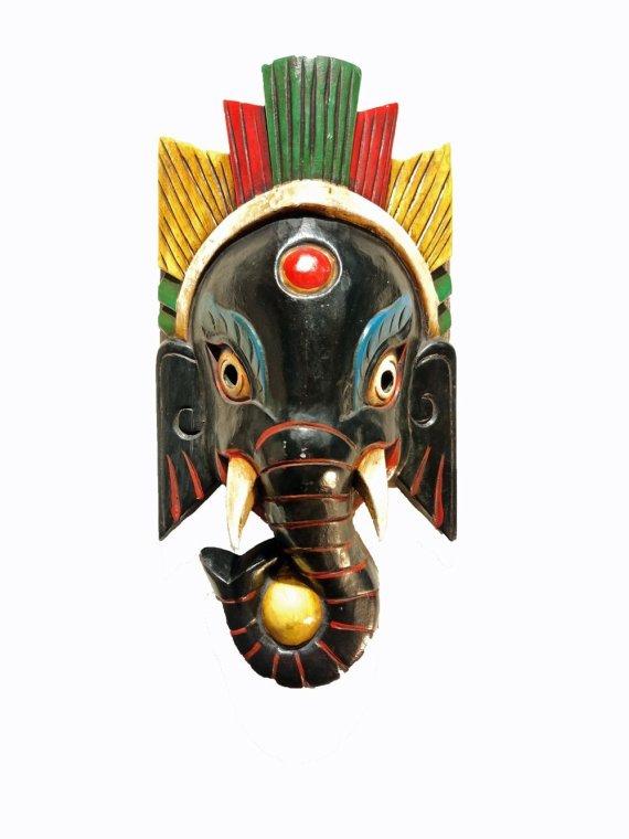 Ganesh Mask Black