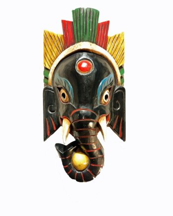 Ganesh Mask Black