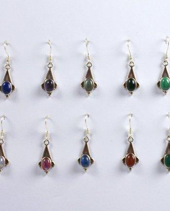 Silver Triangular Earrings