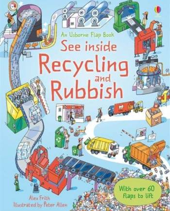 See inside recycling and rubbish book, by Usborne Books
