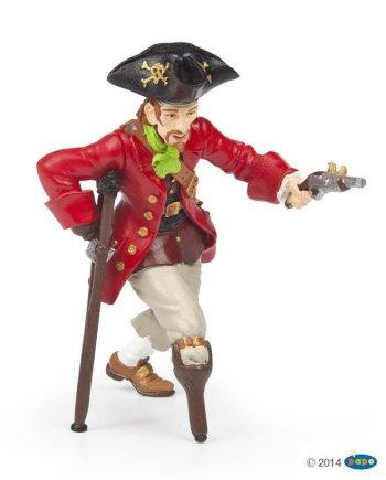 Papo Wooden Leg Pirate With Gun, Figurine