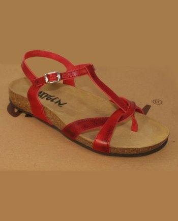 Oxygen Footbed Sandal Aphrodite RED
