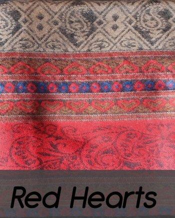 Yak Wool Red Hearts Shawl