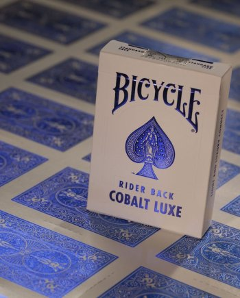 Bicycle Playing Cards Rider Back Cobalt Luxe Blue
