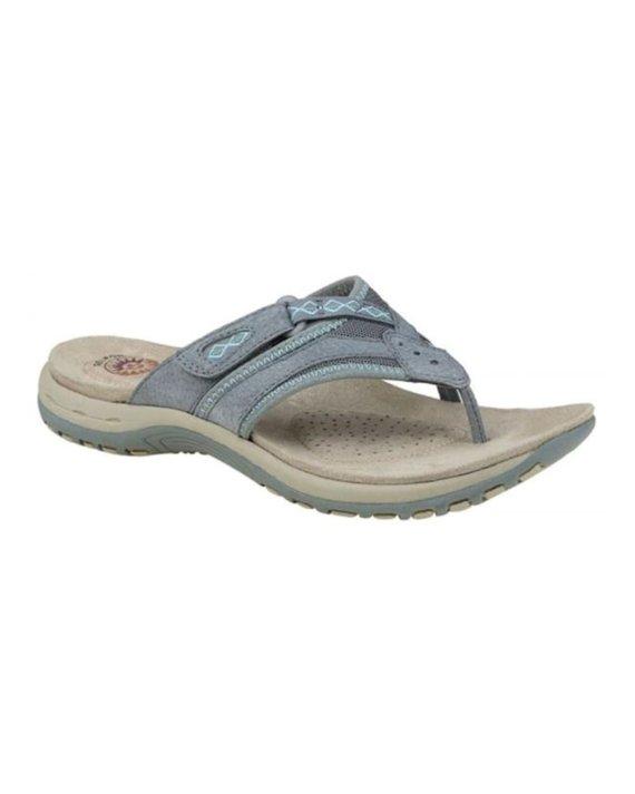 Earth Spirit Juliet frost grey toe post sandals
