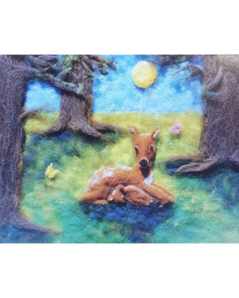 Deer in the Forest Card