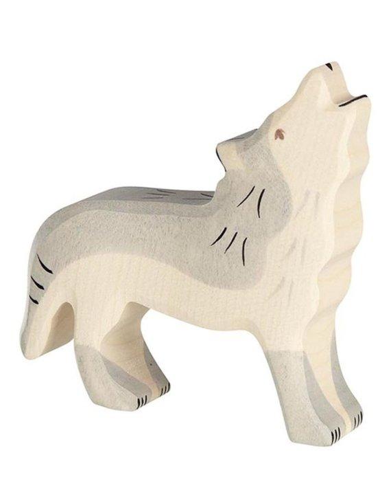 Holztiger Wolf Howling