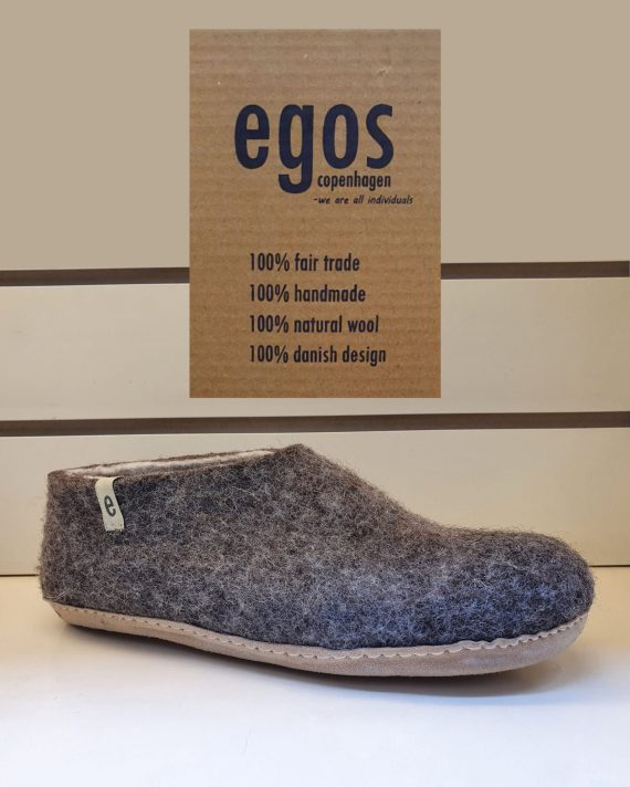 Egos natural brown slipper shoe